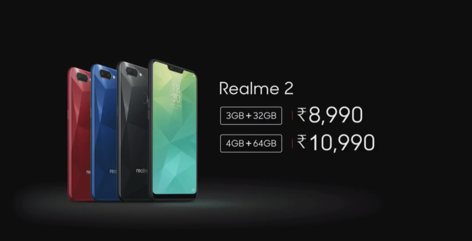 'Realme 2' with 6.2 inch Notch display and 4230 mAh battery