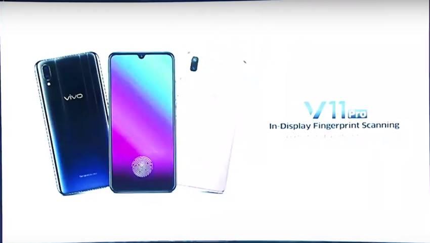 Vivo V11 Pro With 6GB RAM And In Display Fingerprint Sensor